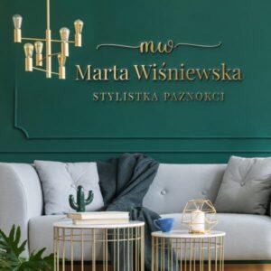 Logotyp na ścianę dla stylistki paznokci