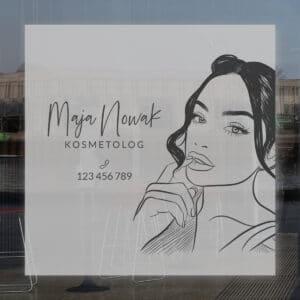 reklama na okno do gabinetu kosmetologicznego