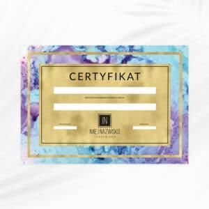 certyfikaty na szkolenia akwarelowe