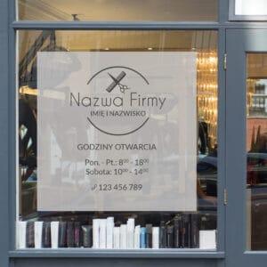reklama na okno dla stylistki fryzur