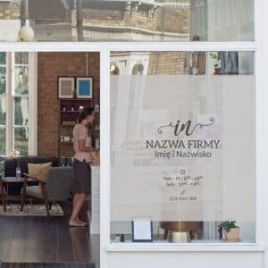 reklama na okno dla stylistki paznokci