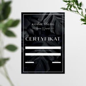 certyfikat na szkolenia dla kosmetologa