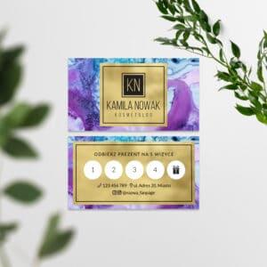 karta rabatowa dla kosmetyczki