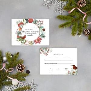 vouchery podarunkowe ze świątecznymi rysunkami