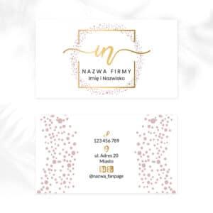 wizytówki ze złotym logotypem